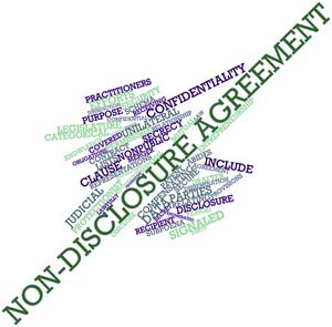 16982794 - abstract word cloud for non-disclosure agreement with related tags and terms