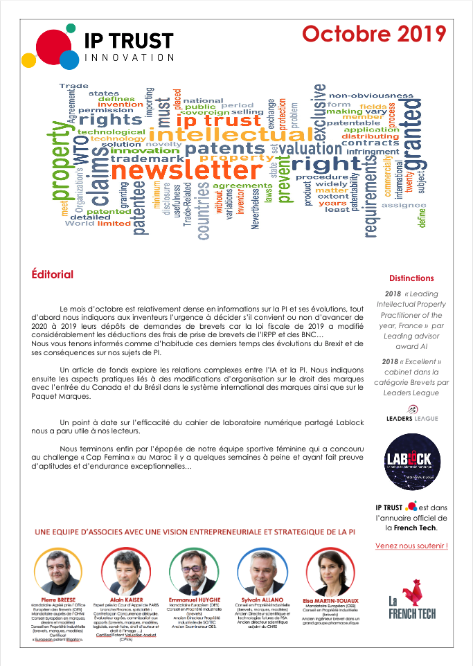 IPTRUST_Newsletter_Octobre2019