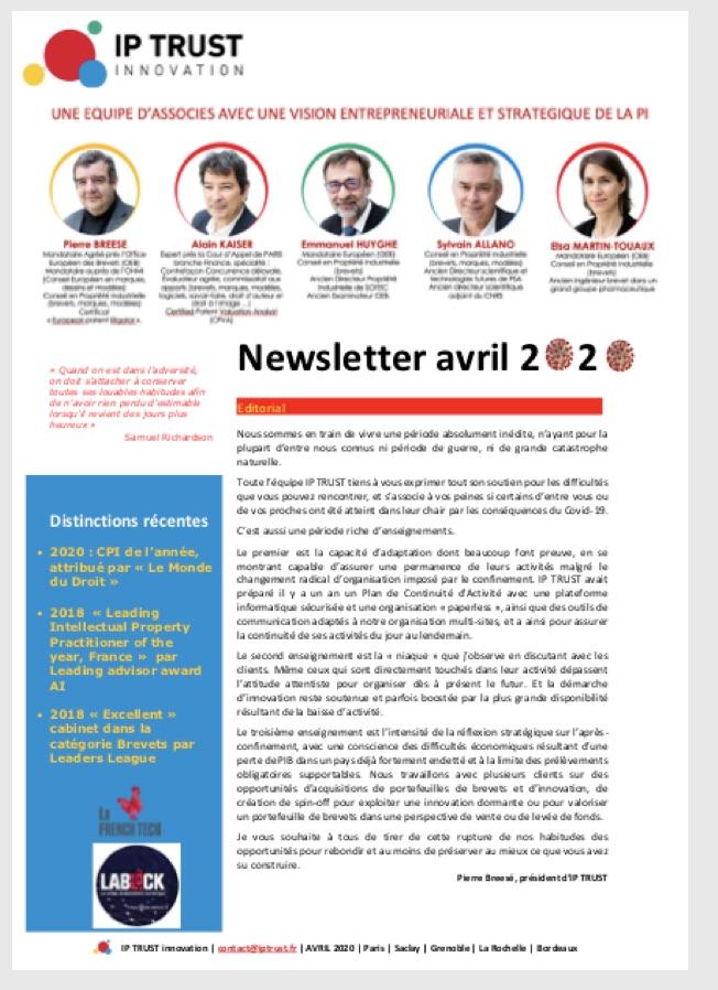 IPTRUST_Newsletter_Avril2020